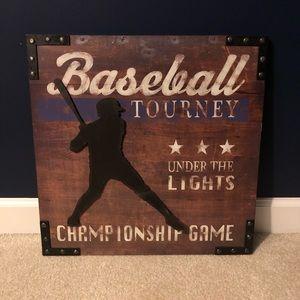 NWT Baseball Wall Art
